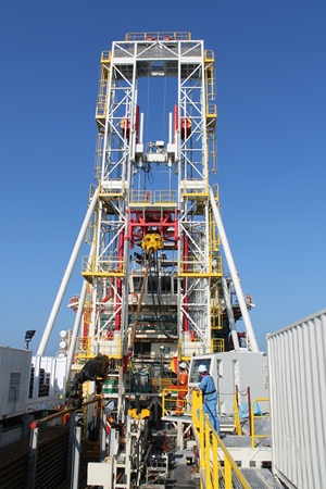 Geoquip Marine GMTR120 drill rig in operation