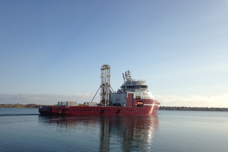 Dina Polaris with GMTR120 Offshore Geotechnical Drill Rig
