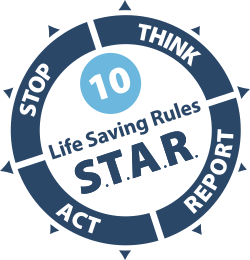 Geoquip Marine's Health & Safety Star Rules