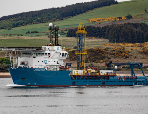 Geoquip Saentis sails to her maiden job