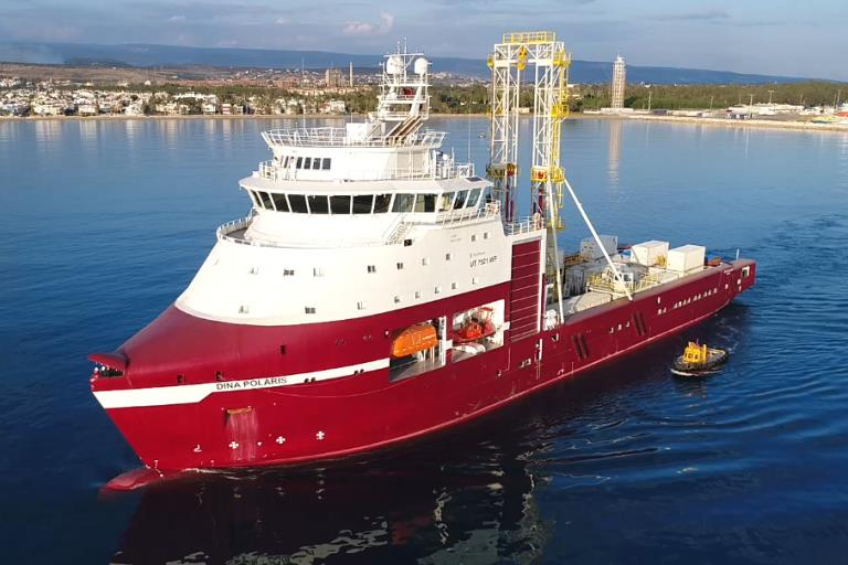 Dina Polaris part of Geoquip Marine's fleet for offshore site investigations