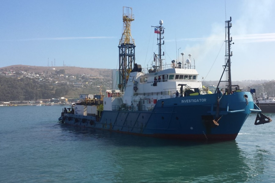 MV Investigator in San Antonio Chile