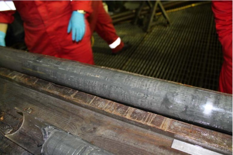 High quality core samples retrieved by Geoquip Marine