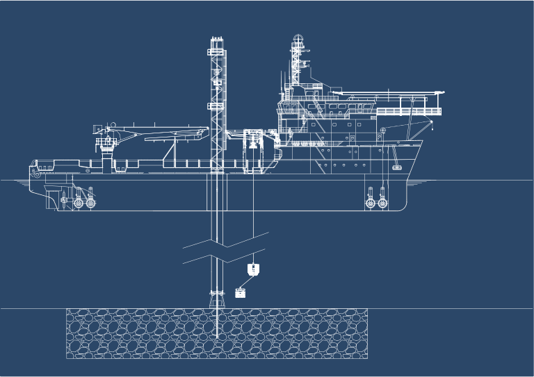 Vessel with Deep Water Cuttings Collection System
