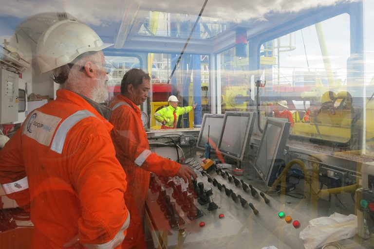 Offshore Geotechnical Drilling Rig Remote Operators