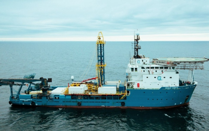 Geoquip Saentis with GMR600 North Sea Geotechnical Campaign