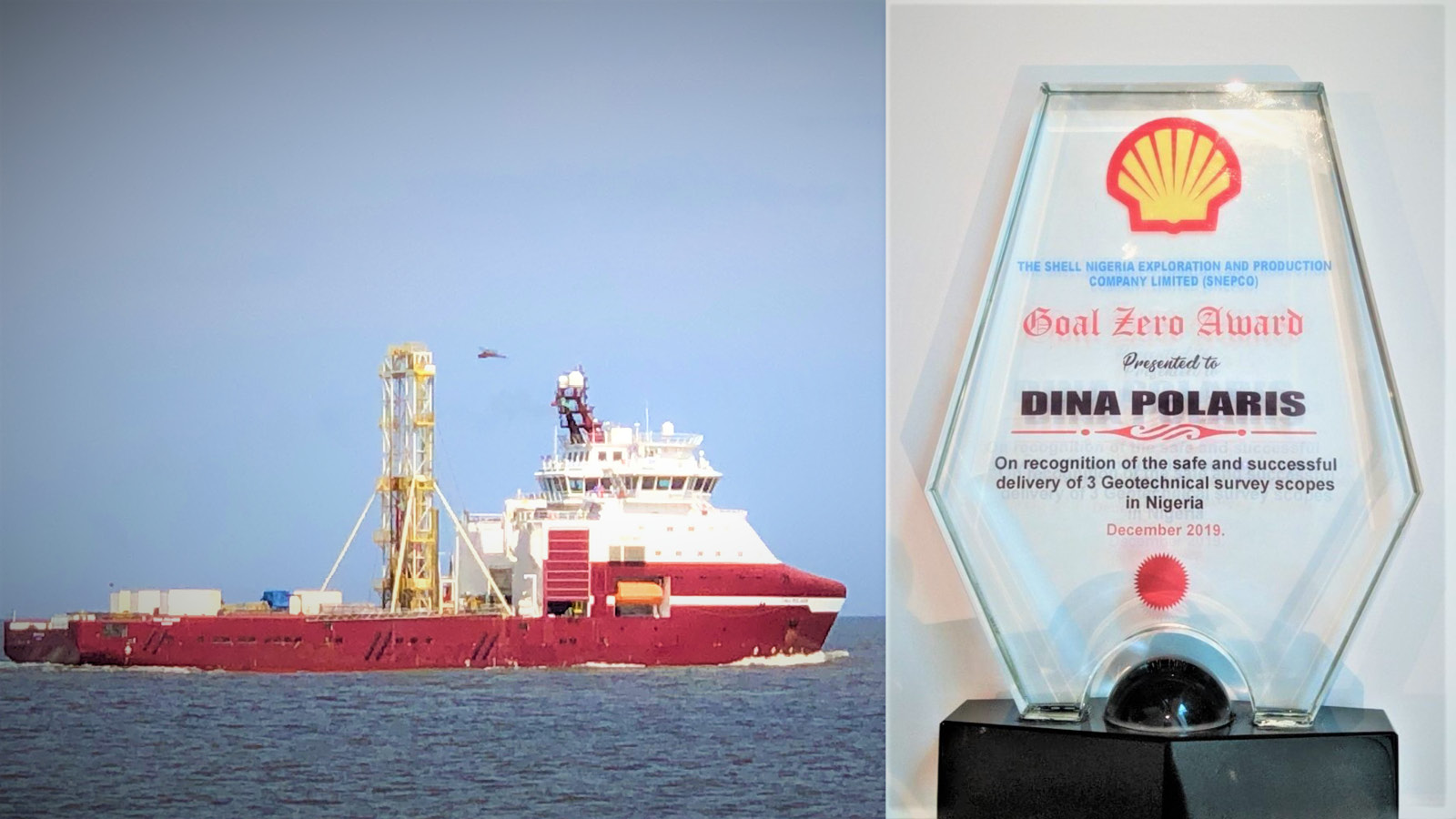 Geoquip Marine honored with Goal Zero award by Shell for zero LTI