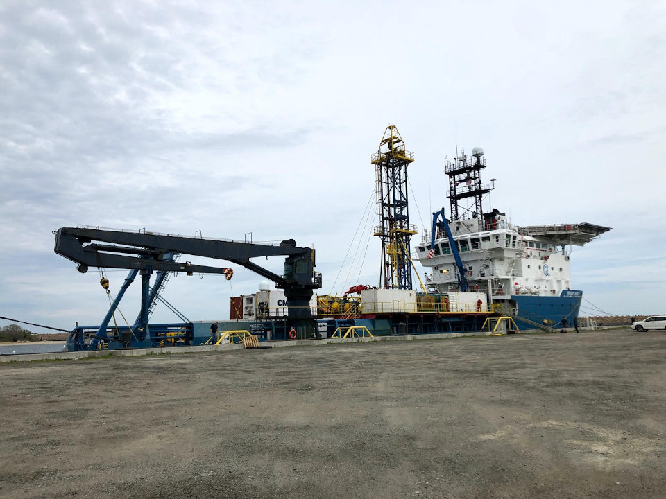 Geoquip Saentis docked in New Bedford, photo by Vineyard Wind