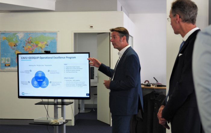 Geoquip Marine presentation to the US Ambassador